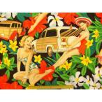 生地 布 USA コットン Aloha Girls アロハガールズ 6627A Black THE ALEXANDER HENRY FABRICS アレキサンダーヘンリー ファブリックス  ハワイア