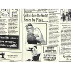 USAコットン 生地 布 タイムレストレジャーズ Quilting News C9699WHITE キルティングニュース Timeless Treasures 商用利用可能