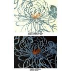 プリント リップル生地 布 花柄 乱菊柄 281-1130-1 手作り浴衣・甚平に最適 商用利用可能