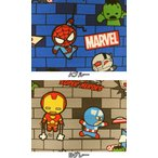 2016年 入園入学 キャラクター生地 布 マーベルキャラクターズ G7276−1 アベンジャーズ スパイダーマン アイアンマン キャプテンアメリカ マイ