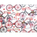 USAコットン 生地 布 タイムレストレジャーズ ベロ バイシクル 自転車 C4296IVORY 商用利用可能