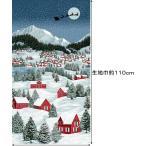 クリスマス パネル柄 生地 布 USAコットン THE NIGHT BEFORE CHRISTMAS ザ ナイト ビフォア クリスマス 3166−001 縦約110×横約60cm RJR Fabri