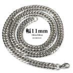 ステンレス 6面カットダブル 喜平 きへい チェーンネックレス silver 喜平ネックレス 6面 W 50cm 60cm 幅11mm