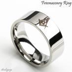 ステンレス素材 シンプル 平打ちリング メンズ 指輪