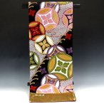 ショッピング成人式 振袖用袋帯 ikob1009-1 成人式振袖  ブラック・黒地/菊華紋章柄