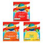 【メール便・送料無料】【同梱/代引不可】ゼリーの素(ゼラチン) 3種類セット ユニバーサル 75g<br>gelatina sabor a naranja
