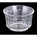 PC製・プラスチック製 信濃化学・SHINCA 業務用食器 ガラス調食器 透明なうつわ クリスタル ゼリーカップ(83×50 155ml) [546-crystal]