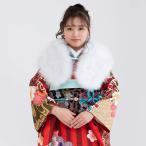 女性和服, Kimono - (成人式ショール マラボー 01)成人式 ショール ファー 振袖  女性 レディース 着物 和装 ファーショール 羽毛 フェザー kyoetsu(キョウエツ) (zr)
