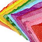 正絹振袖用帯揚げ17 総絞り 全10色 赤 ピンク ローズ アズキ 紫 水色 緑 ヤマブキ 黄色 朱(zr)