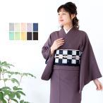 (日本製 レディース東レ着物 袷)女性用色無地 東レシルジェリー 袷 仕立て上がり 着物  ちりめん 緑 青 紫 藤 茶 白 ピンク TSシステム縫製 洗える着物