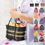 手提包 - (カゴバッグ kg07) 浴衣 かごバッグ バッグ 巾着 かご巾着 レディース 12colors (ys)181073