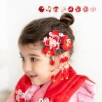 (髪飾り つまみ細工 K 2点) 七五三 髪飾り 花 8colors 3歳 7歳 2点セット 三歳 女の子 ガールズ  (rg)