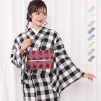 (女単衣 綿混) 洗える着物 夏着物 単衣 レトロ モダン レディース 10colors S/M/L/TL/BL