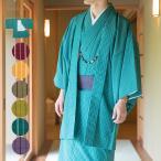 (男羽織しゃれ縞)洗える羽織 紬風 しゃれ縞 男性 カジュアル メンズ羽織 大きいサイズ (zr)181040
