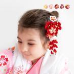 (髪飾り つまみ細工 D 2点) 七五三 髪飾り 花 5colors 3歳 7歳 2点セット 三歳 女の子 ガールズ  (yp)