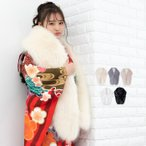 (ロングフェイクファー) 成人式 ショール 振袖 着物 和装 ファー 女性 レディース フェイクファー エコファー フォックス