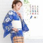 (浴衣4点セット レトロ C) 浴衣 レトロ セット 浴衣セット レディース (浴衣/帯/下駄/肌着) 16colors F