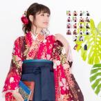 (袴3点セット 華やか) 袴セット 卒業式 袴 セット 女性 16colors はかま 振袖 レトロモダン 着物 コスプレ 小学生 二尺袖着物 レディース(ns42)