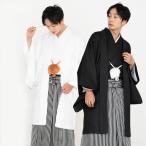 (新 男着物セット 紋付袴)洗える着物 男 3点セット 礼装 地紋 袷生地 メンズ 着物 羽織 袴(zr)