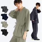 作务衣 - (楊柳作務衣 14) 作務衣 夏用 男性 メンズ 3colors さむえ おしゃれ 父の日 大きいサイズ M/L/LL/3L/4L/5L