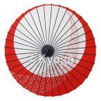 紙舞日傘 尺4 月やっこ桜流し エンジ