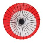 和傘 紙傘 こども用和傘 月やっこ桜流し 朱色 一本柄 踊り傘