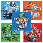 SmileMakers Transformers Rescue Bots Stickers - Birthday and Theme Party Supplies - 75 per Pack