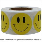 1 inch Smiley Face Stickers Roll Happy Face Stickers Circle Dots Paper Labels Reward Stickers Teachers Stickers 1000 Pieces per Roll