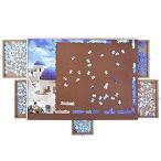 ATDAWN 1000ピース 木製パズルテーブル ジグソーパズルテーブル パズルプラトー滑らかなファイバーボード作業表面 5つのスライド引き出し パズ