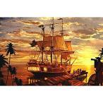 子供用ジグソーパズル 1000ピース 海賊船 大人 木製パズル レジャークリエイティブパズルゲーム アートおもちゃパズル