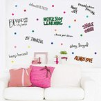 PARLAIM Inspirational Wall Decals Motivational Phrases Sticker Wall Decals Quotes Removable Decals for Kids Home Decoration Living Room Bedroom, Posit