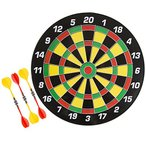 TMG 16 Inch Magnetic Dart Board Set - Includes 6 Darts!
