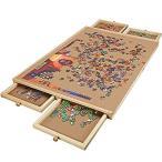Lovinouse アップグレード木製パズルテーブル 1000ピースパズル用 プラトースムーズ ファイバーボード 作業表面 4つのスライドドローワー