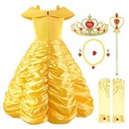 Ohlover Little Girls Princess Off Shoulder Layered Costume Dress with Acces
