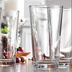 魅力的なハイボールグラス クリアヘビーベース トールビールグラス [6個セット] 水/ジュース/ビール/ワイン/カクテル用 17オンス