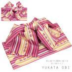 浴衣帯 yukata ゆかた帯 作り帯 レディース 浴衣 帯 付帯 結び帯 ピンク レトロ かわいい 5208