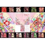 七五三 7歳 子供着物 フルセット 正絹 ピンク 鼓に熨斗・桜 DHT264set
