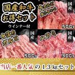 焼肉 肉 牛肉 1kg おまけ付き(カルビ盛り合わせ500g 中落ちカルビ250g ハラミ300g ウィンナー200g)