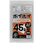 ●代引き不可 送料無料 ポリ袋45L(透明) P-6504 厚0.05mm 10枚×40冊 07063