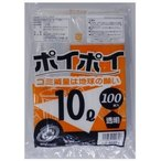 ●代引き不可 送料無料 ポリ袋10L(透明) LD-40454 厚0.02mm 100枚×10冊 07123