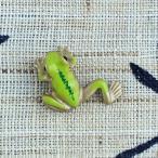 タックピン・ブローチ (黄銅製)蛙・かえる・カエル 足伸 豆
