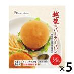 越後のバーガーパン 1個(80g)×5 バイオテックジャパン 低たんぱくパン 腎臓病食 米粉パン グルテンフリー