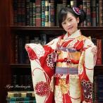 七五三 着物 7歳 フルセット 購入 菊乃(きくの)  レトロ モダン きもの 四ツ身 女の子 七才用 子供用振袖 京都
