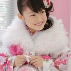 七五三 ショール お正月 スワンショール (マラボー) ファー 3歳〜7歳用 白×ピンク 完全数量限定生産品