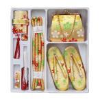 七五三 小物セット 箱迫セット はこせこセット 3〜7歳 草履・バッグ 6点セット 女の子 金 梅 桜 古典