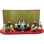 ディズニー 雛人形 ひな人形 女の子 吉徳 ミッキー&ミニー DNキャラクタ-台段飾り ミッキーマウス