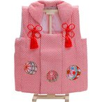 被布 女の子 祝い着 初節句 スタンド付 赤ちゃん まり刺繍