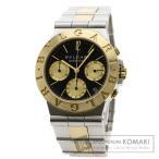 ブルガリ CH35SGD ディアゴノ クロノグラフ 腕時計 ステンレススチール SSxK18YG K...
