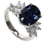 SELECT JEWELRY セレクトジュエリー  サファイヤ/ダイヤモンド リング・指輪 プラチナPT900  中古