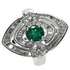SELECT JEWELRY セレクトジュエリー  エメラルド/ダイヤモンド リング・指輪 プラチナPT900  中古